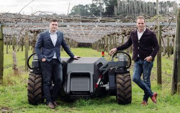 The UGV: Dr Alistair Scarfe (left) and Steve Saunders. Photo/Supplied.