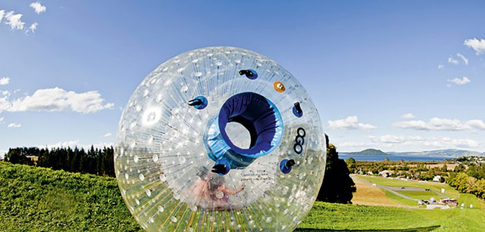 Zorb: Downhill ball rolling business reacquired. Photo/Supplied.