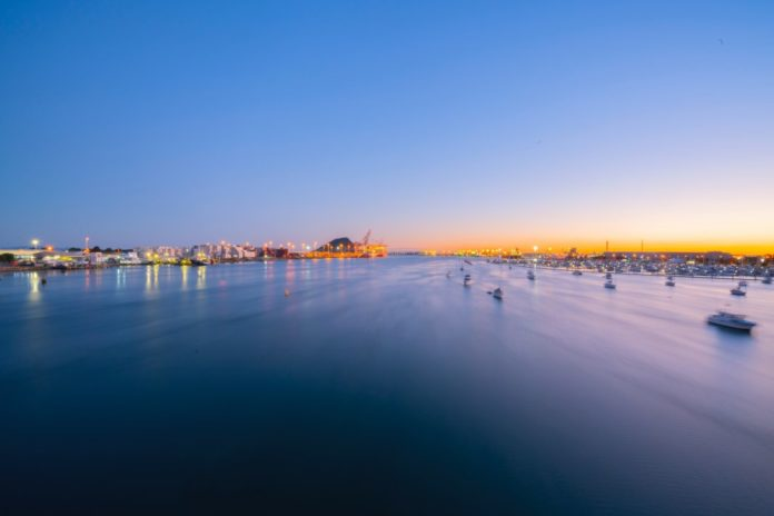 Scenic picture of Tauranga harbour at Dawn
