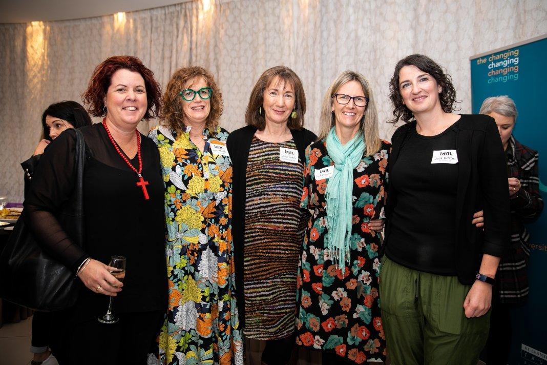 Group photo of Janine Hellyer, Robyn Mangos, Louise Caskey (BDO Tauranga), Cindy McCarroll (Inbox PA), Jess Turton (BDO Tauranga)