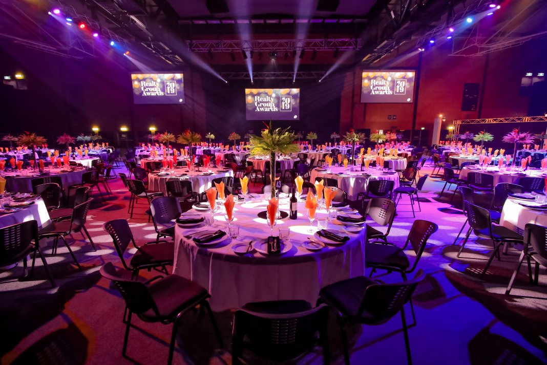 Grand banquet room at Baypark Arena to celebrate 10 years.