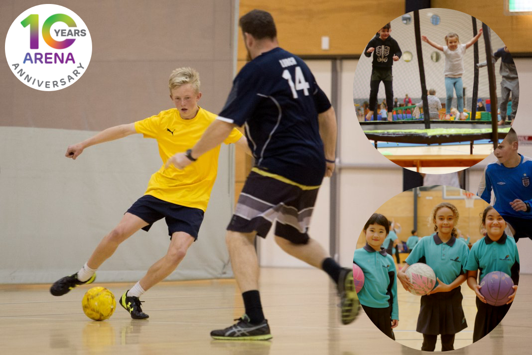 Children playing sports enjoying the community facility at Trustpower Baypark
