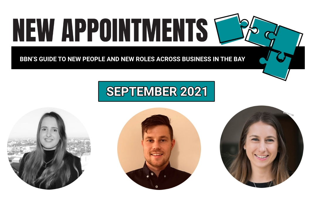This month's new appointments. Left to right. Kate Romey, Alex Russell, Kaydi O'Connor