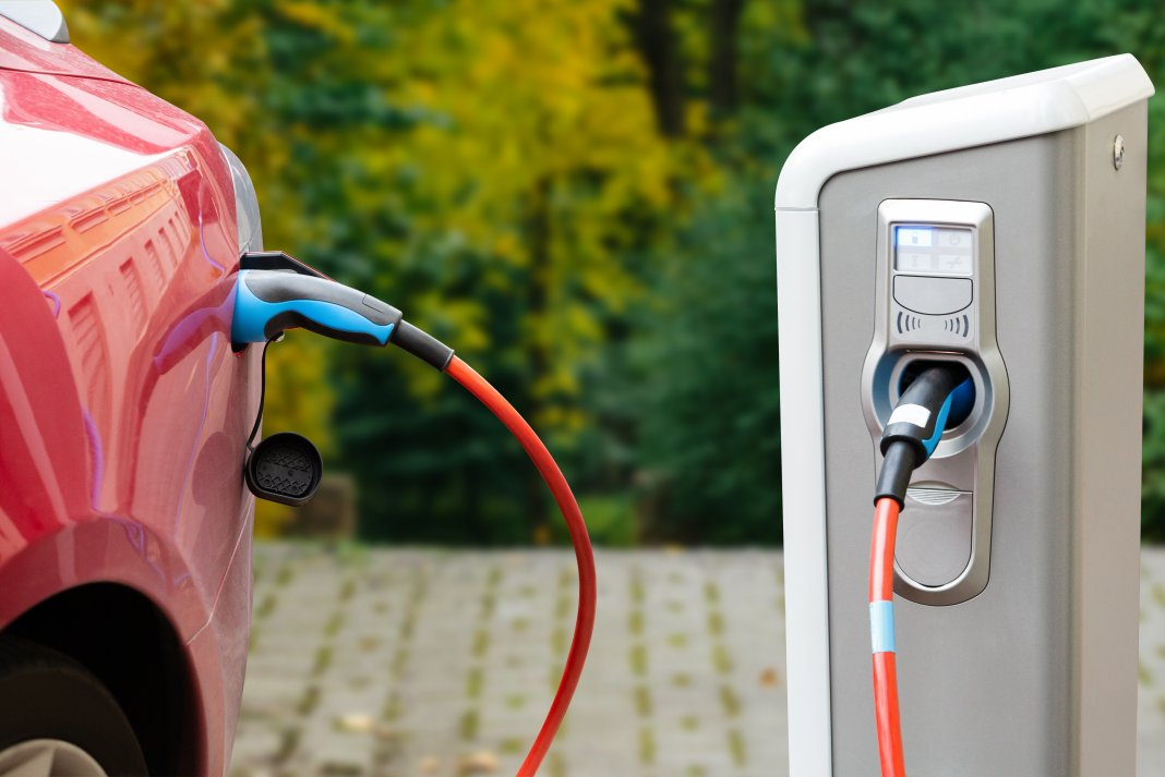 charging electric car EV