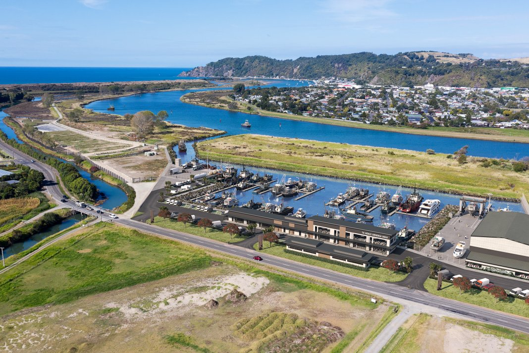 Artist's impression of proposed new waterfront development in Whakatane.